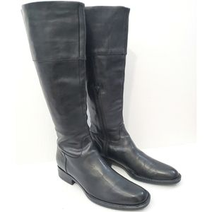 Born Crown Coll Tall Black Leather Riding Boot